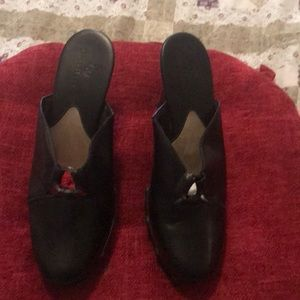I'm selling Designer black clogs by Cole Haan